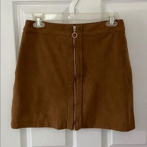 Brown suede H&M skirt